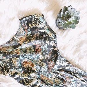 buffalo / silky snakeskin print dress